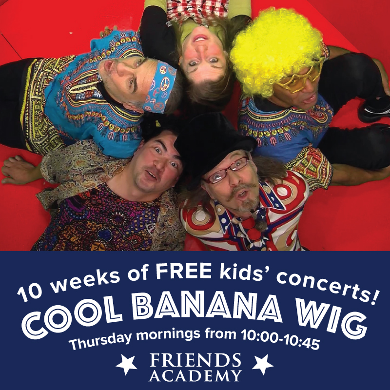 concert, friends academy, cool, banana, wig, dartmouth